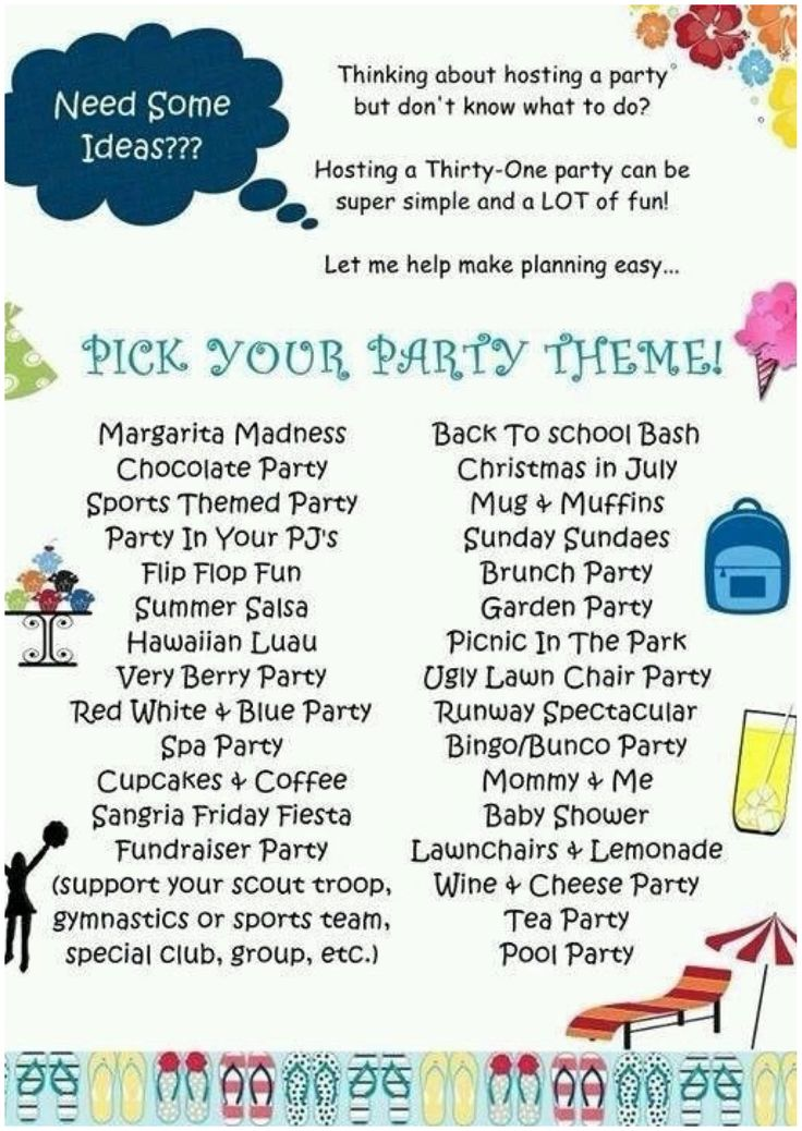 Thirty one party themes