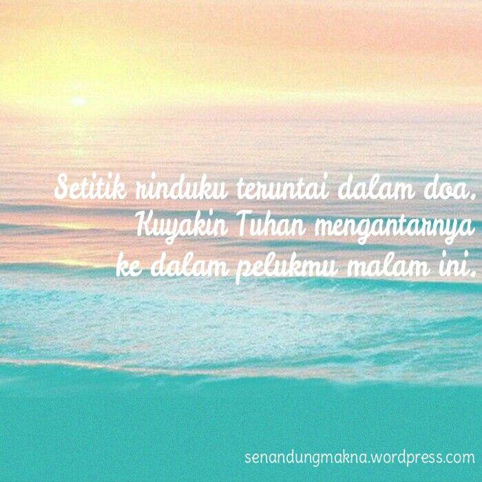 Rindu dalam doa #quotes #puisi #Indonesia