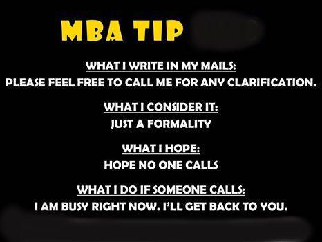 MBA TIPS