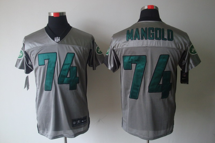 2e5e22f435a ... New York Jets 74 Nick Mangold shadow Elite Nike NFL Jersey in grey  ID26449753 24 nfl ...