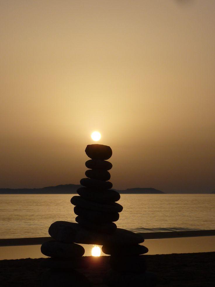 Sunset in Arillas, Corfu.