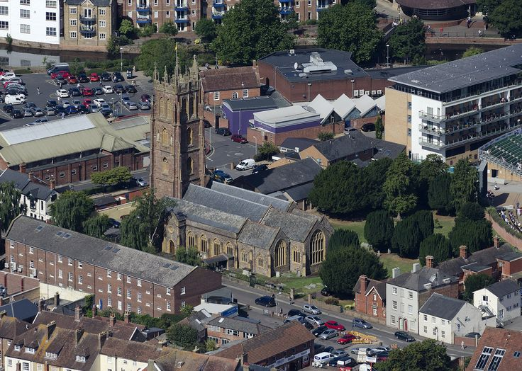 Church of St James in Taunton - aerial image by John Fielding #taunton #somerset #church #aerial