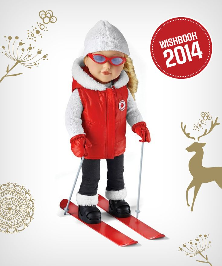 "Your budding skier will love Newberry's Canadian Ski Girl ""Madison"" Fashion Doll"