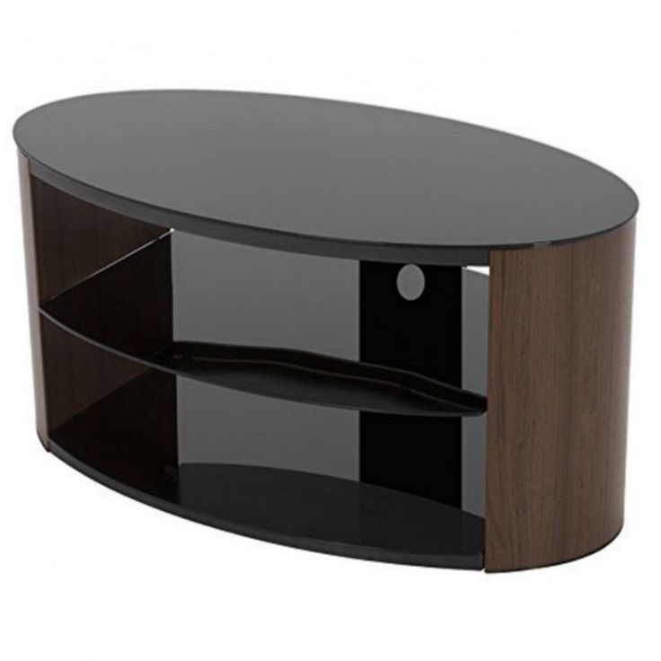UNIVERSAL TV STAND OVAL SHAPE COMFORTABLE FURNITURE SKY BOXES FREE UK DELIVERY