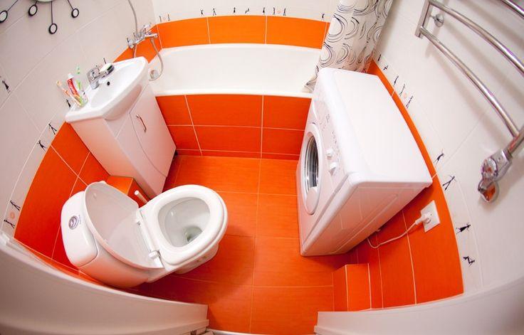 Белая ванная комната - черно-белый дизайн, красно-белые тона, белая мебель
