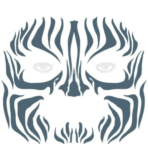 Tinsley Tattoo Fx Tribal Zebra Full Face Temporary Fx Makeup Transfers Tattoos Black Large United States Fc-502