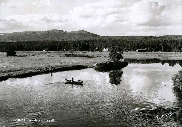 Hedmark fylke Trysil kommune Ljørdalen 1950-tallet Utg Normann