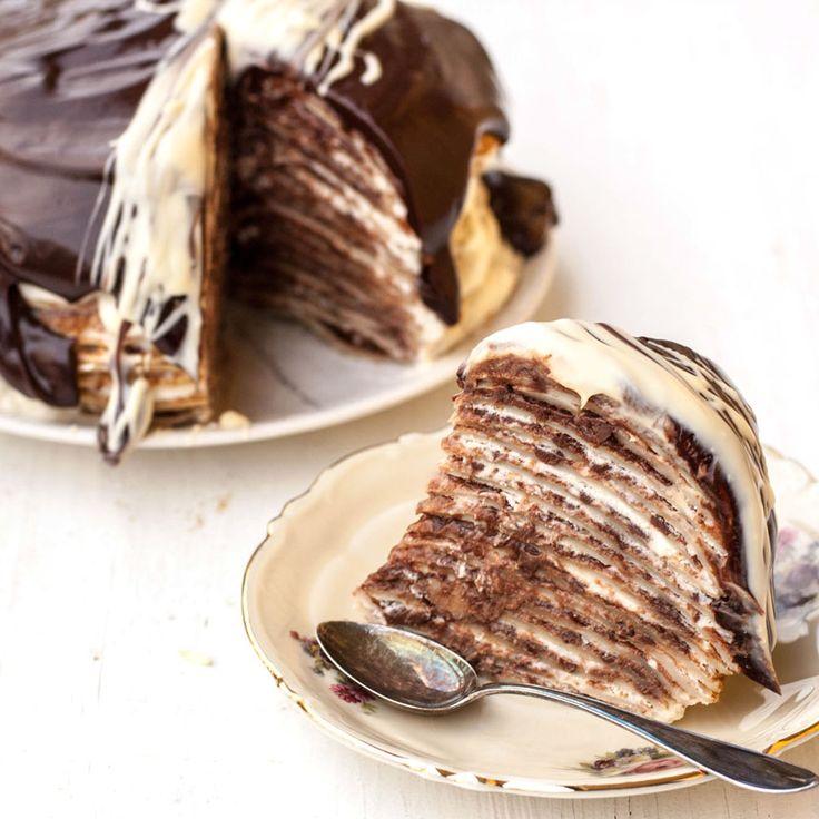 Lättaste, mumsigaste fikat - pannkakstårta!