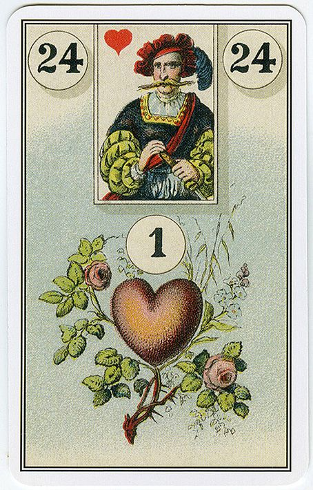 Cartomancie Francaise, the true Cartomancy from the hands of Madame Lenormand. See the Tarot Guild of Australia for more information on Lenormand.