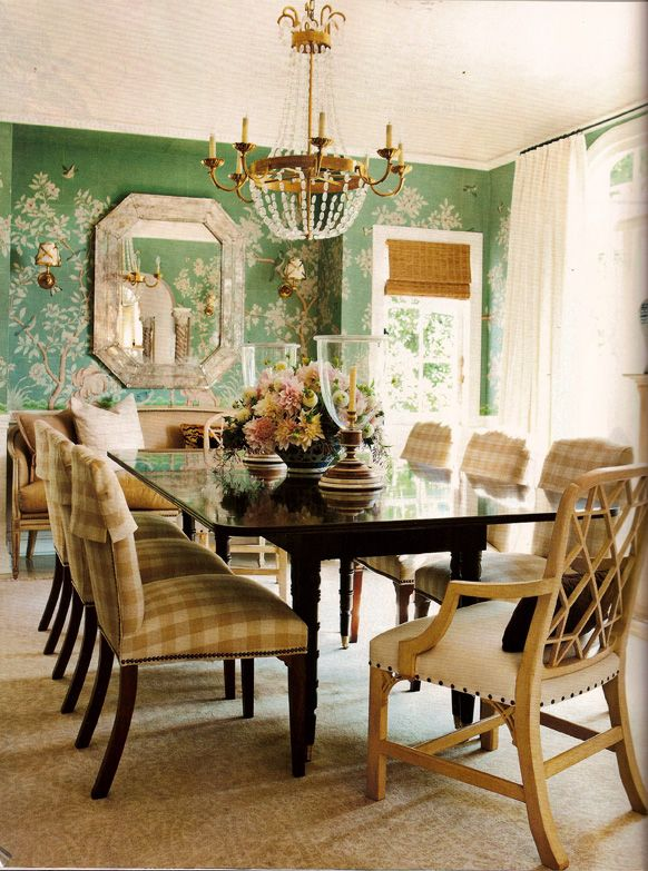 Mark D Sikes Dining Room In LA As Featured House Beautiful The