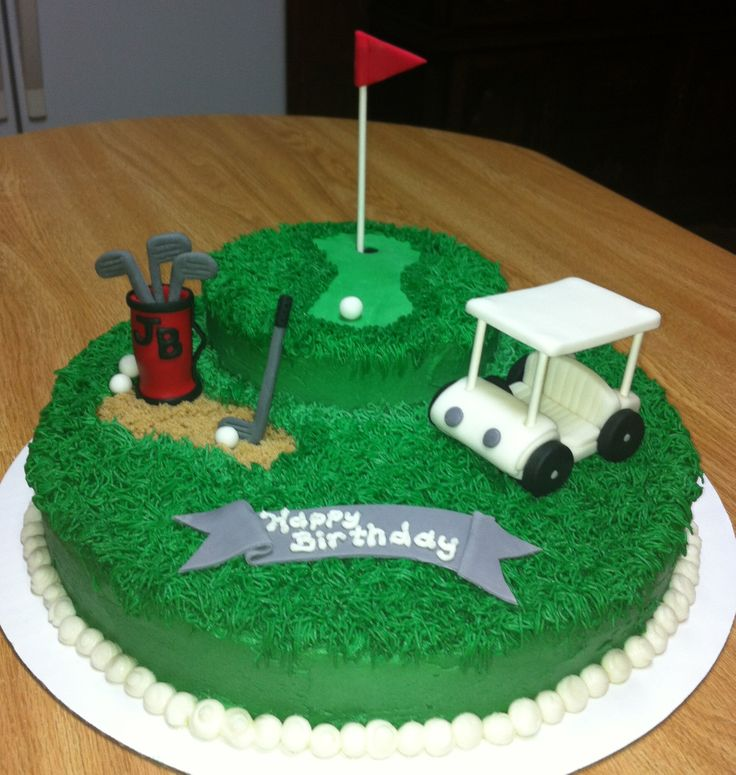 Golf birthday cakes ideas