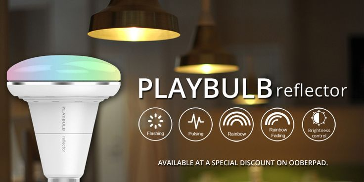 #MiPow Playbulb Reflector with 15-watts of #LED power and #Bluetooth® #Smartbulb is available at a special discount on #Ooberpad. Check here: https://www.ooberpad.com/products/mipow-btl202-playbulb-reflector