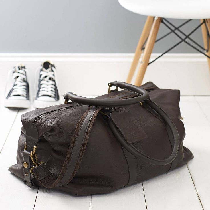 anthony handmade leather weekend holdall by nv london calcutta | notonthehighstreet.com