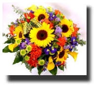Beautiful flower bouquets available for delivery New Zealand wide. Sunflowers, tulips, roses etc