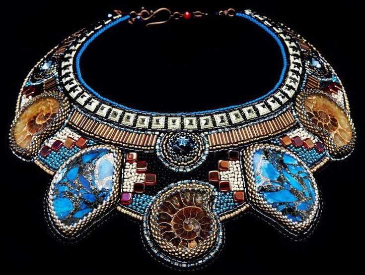 Design of the day - necklace Hator by Anna Vishnevskaya Click on link to see more photos - http://beadsmagic.com/?p=7570