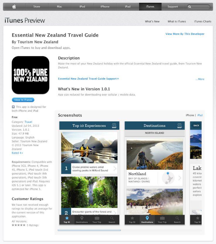 New Zealand Travel App