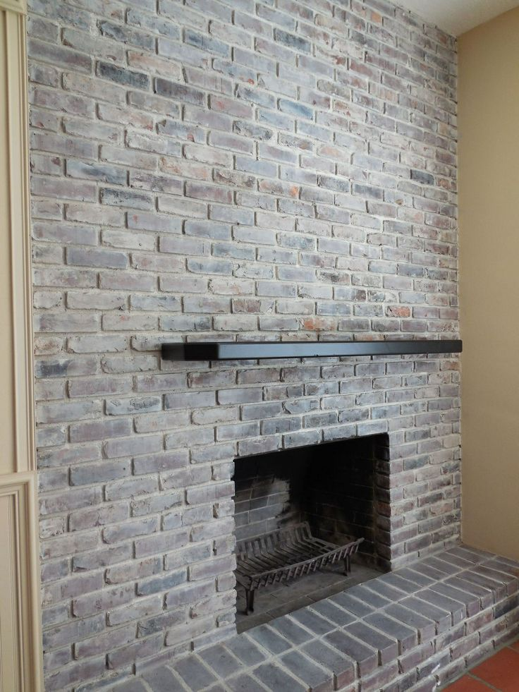 This is how I updated the fireplace from yesterday's post. #Whitewash #fireplaceupdate