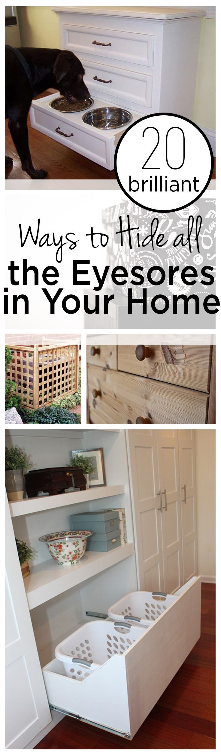 20 Brilliant Ways To Hide All The Eyesores In Your Home