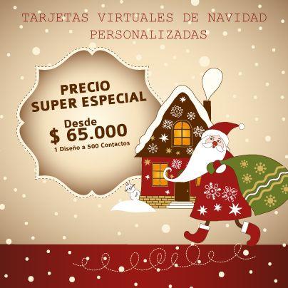 Tarjetas Virtuales de Navidad Personalizadas, una oportunidad para no dejar pasar estas fechas sin enviar un detalle único y personal a las personas que amas, tus compañeros, clientes, en fin a todos tus contactos!!!