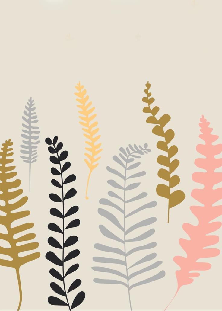 Set of 5 Flora and Fauna Prints. via Etsy.