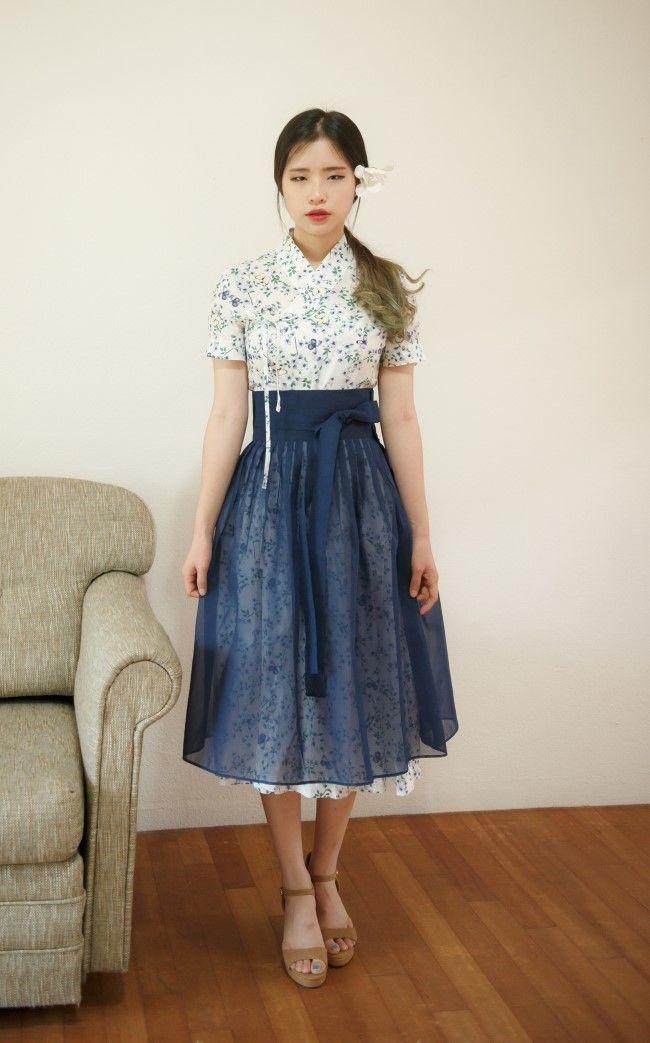 철릭원피스, 데일리한복, 캐주얼한복, 일상한복, 생활한복, 퓨전한복,개량한복 : 꽃닮
