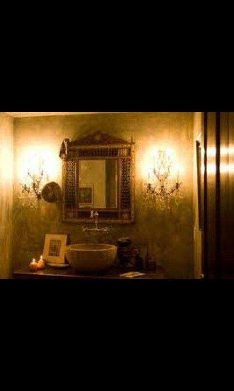 Egyptian style bathroom