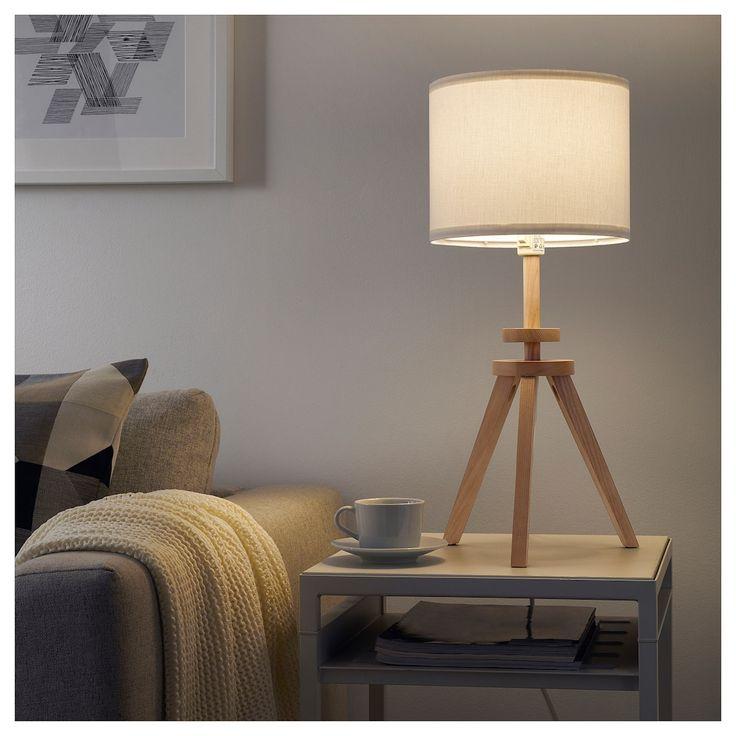 LAUTERS Table lamp with LED bulb, ash, white IKEA Ikea