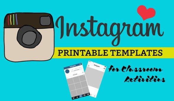 printable Instagram template