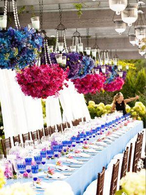 Hanging Flower Centerpieces
