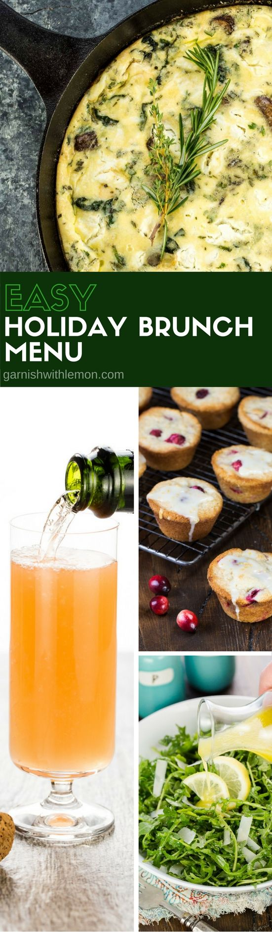 Hosting brunch doesn't need to be stressful! Get all of your brunch recipes from our Easy Holiday Brunch Menu.