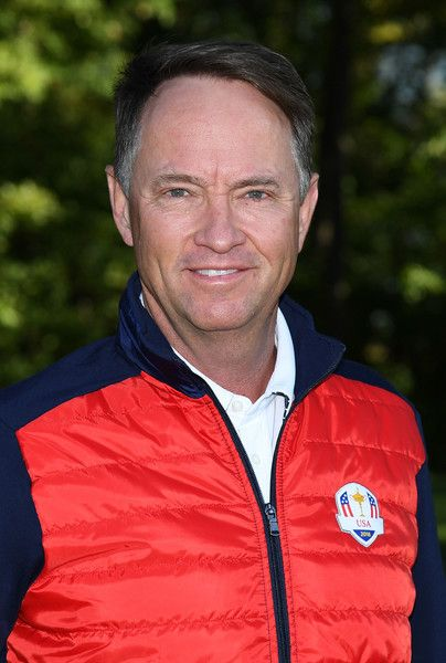 Captain Davis Love III poses during team photocalls prior to the 2016 Ryder Cup at Hazeltine National Golf Club on September 27, 2016 in Chaska, Minnesota.