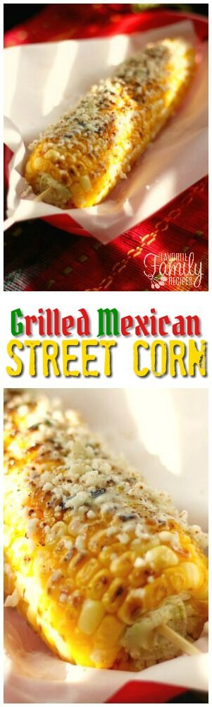 "This Grilled Mexican Street Corn is flavored with Cotija cheese, chili powder, and lime. We call it ""Nacho Libre"" because of the corn clip from the movie. via @favfamilyrecipz"
