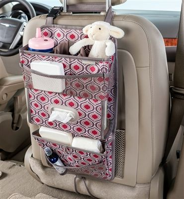 high road tissuepockets car seat back organizer and tissue holder sahara