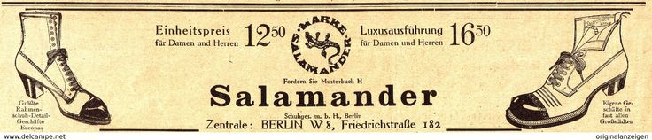Werbung - Original-Werbung/Anzeige 1913 - SALAMANDER SCHUHE - ca. 230 x 50 mm