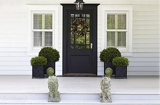 Classic Traditional. Love the door, love the planters