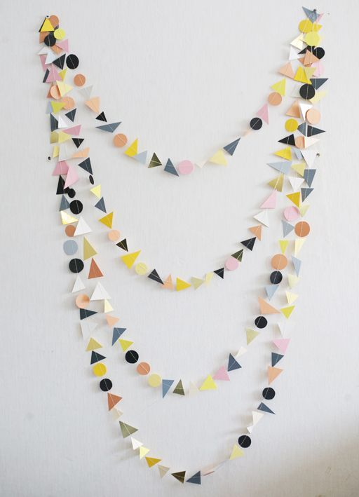paper shapes garland/ love.