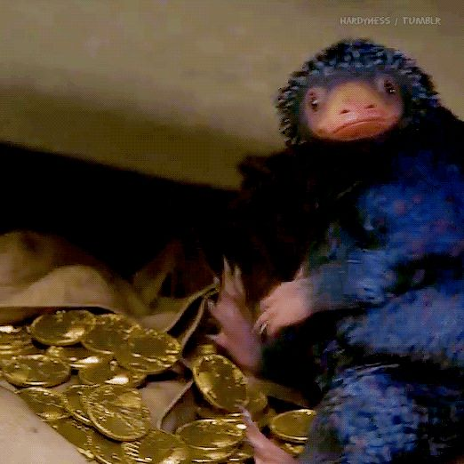 """Fantastic Beasts and Where to Find Them → The Niffler """"mine"""""""