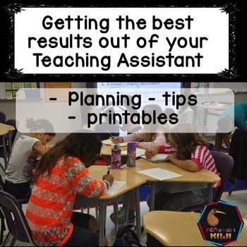 A communication, training and planning pack for teacher assistants or teacher aides or Paraprofessionals who are employed to work with students with additional or special needs.Wanting to make sure you get the most from your teaching assistant or Paraprofessional?