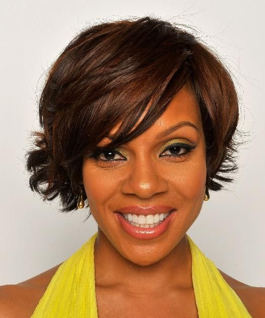 short hairstyles for black round faces - Google Search