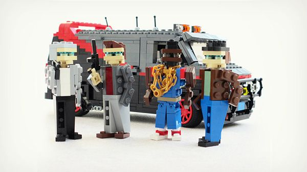 Iconic Cars From '80s TV Shows And Movies Recreated In LEGO
