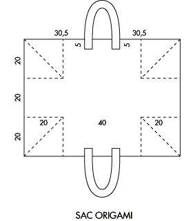 one piece bag / basket pattern