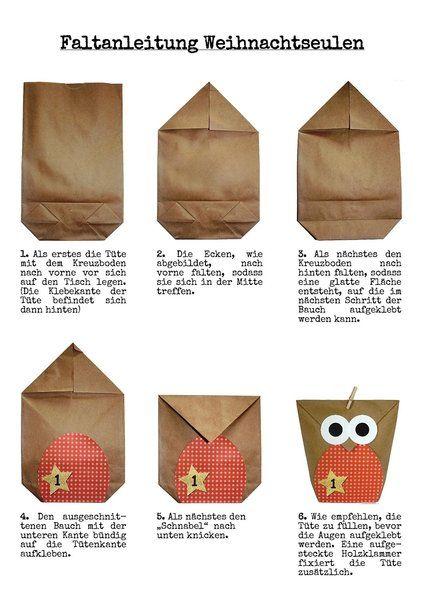 *DIY Adventskalender Set zum Basteln - Weihnachtseulen Schwarz-weiß - Eulen Weihnachten - zum Befüllen - zum selber füllen* In diesem DIY Set (Do-it-yourself) ist alles enthalten, was...