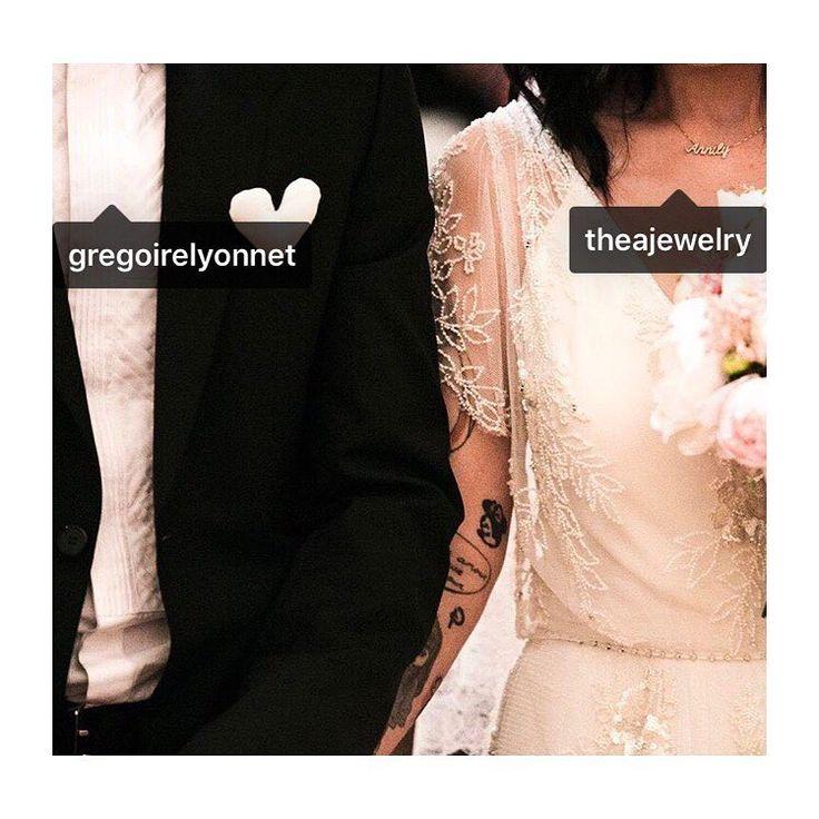 Repost from @alizeeofficiel 👰🏽🤵🏻🎈😙#beauties #wedding #TheaJewelry #celebratelifemore