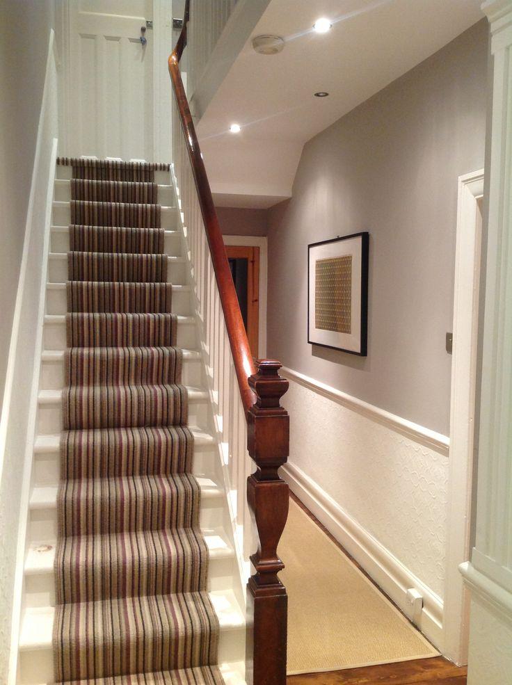 lighting for hallways and landings. spotlights edwardian hallway florence print lighting for hallways and landings