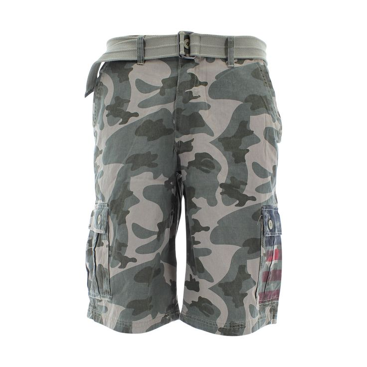 Rok - Men's Cargo Shorts - Olive/Camouflage