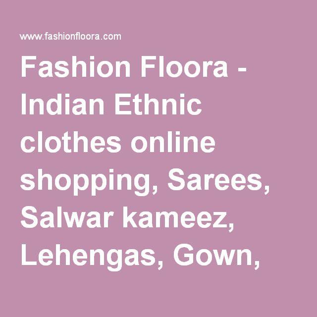 Fashion Floora - Indian Ethnic clothes online shopping, Sarees, Salwar kameez, Lehengas, Gown, Anarkali Suit. Fashion floora Raw Silk & Net Semi Stitch Dress