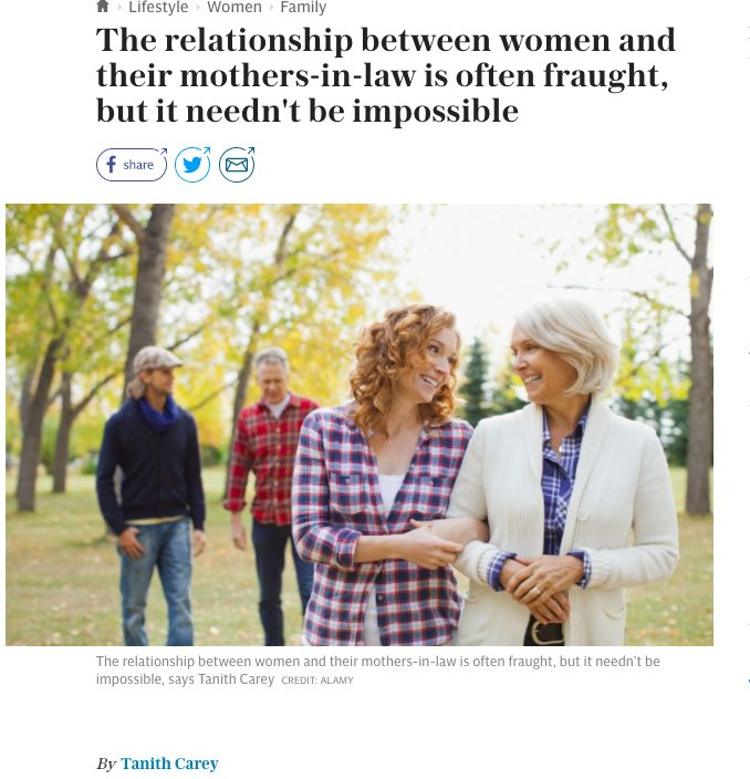 Why the relationship between a daughter-in-law and mother-in-law can be so fraught. My piece in the Daily Telegraph.