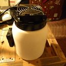 DIY AC unit - cold air fan from reused plastic bottle.  Very portable