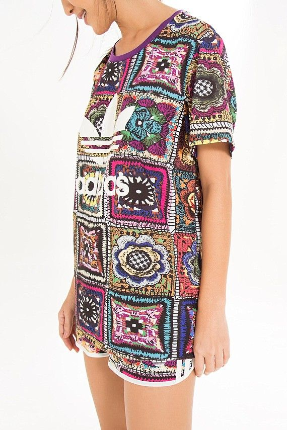 t-shirt ampla crochita adidas | FARM