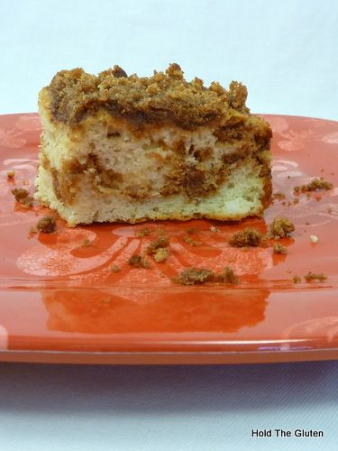 Gluten Free coffee cake with gluten free bisquick. I did these as muffins with Splenda blend brown sugar. Pretty yummy!